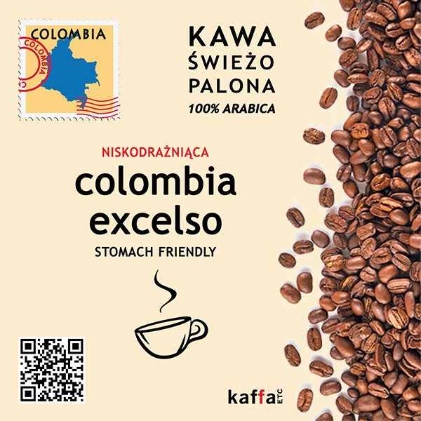 kawa arabica Colombia Excelso niskodrażniąca