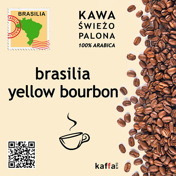 kawa arabica Brasilia Yellow Bourbon
