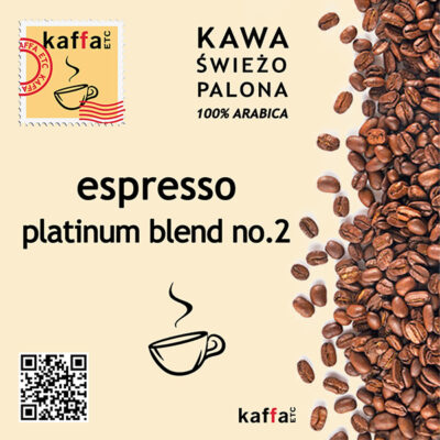 mieszanka kawowa Espresso Platinum Blend No2